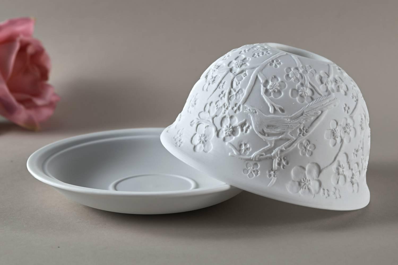Kerzenfarm Dome Light Nr. 32001 Frühlingsboten - Teelicht Windlicht Dekoration Porzellanteelicht - 3