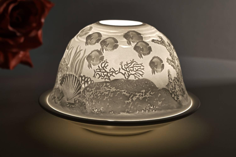 Kerzenfarm Dome Light, Nr. 32002 Meeresgrund - Teelicht Windlicht Dekoration Porzellanteelicht - 2