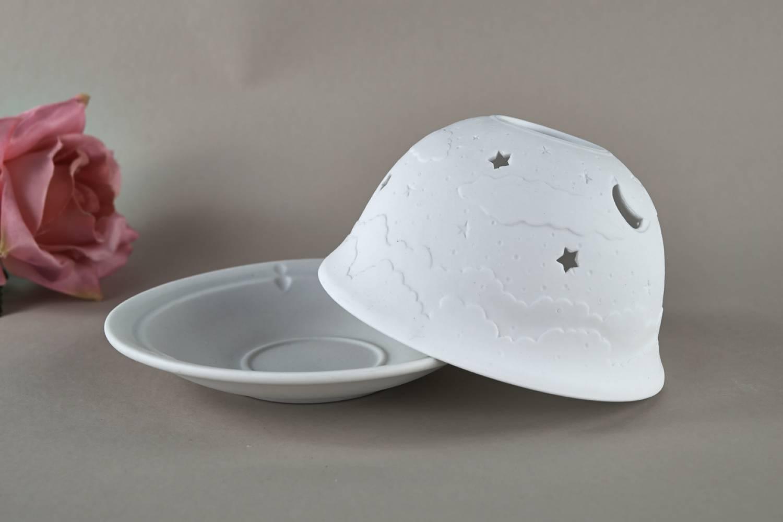 Kerzenfarm Hahn Dome Light Nr. 32007 Firmament - Teelicht Windlicht Dekoration Porzellanteelicht - 2