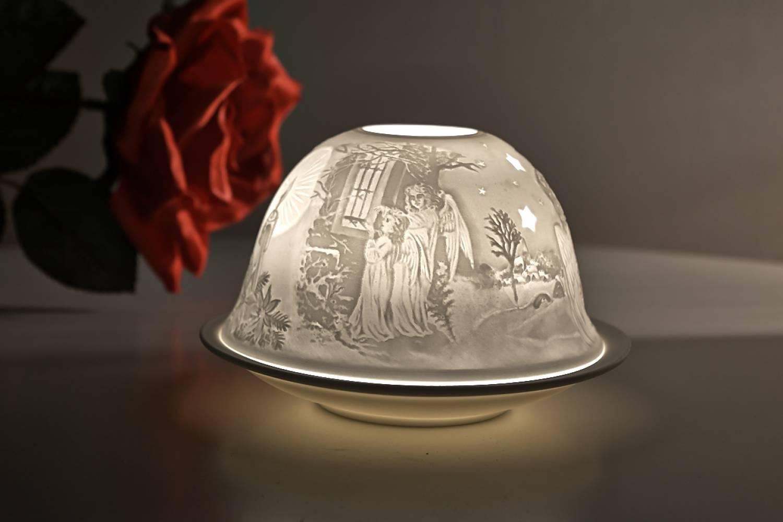 Kerzenfarm Hahn Dome Light Nr. 32010 Heilige Nacht - Teelicht Windlicht Dekoration Porzellanteelicht - 2
