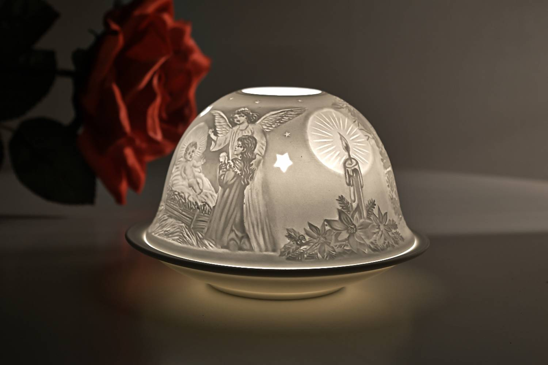 Kerzenfarm Hahn Dome Light Nr. 32010 Heilige Nacht - Teelicht Windlicht Dekoration Porzellanteelicht - 3