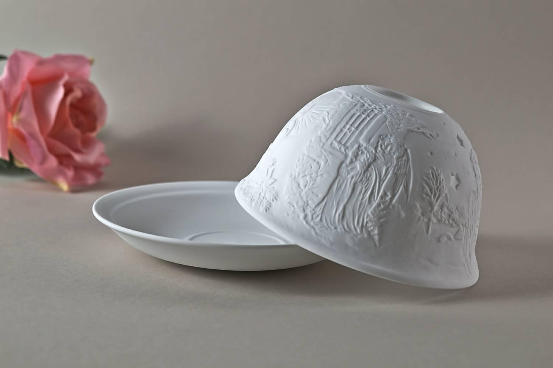 Kerzenfarm Hahn Dome Light Nr. 32010 Heilige Nacht - Teelicht Windlicht Dekoration Porzellanteelicht - 4