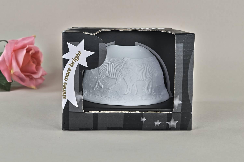 Kerzenfarm Hahn Dome Light Nr. 32012 Zebras - Teelicht Windlicht Dekoration Porzellanteelicht - 3