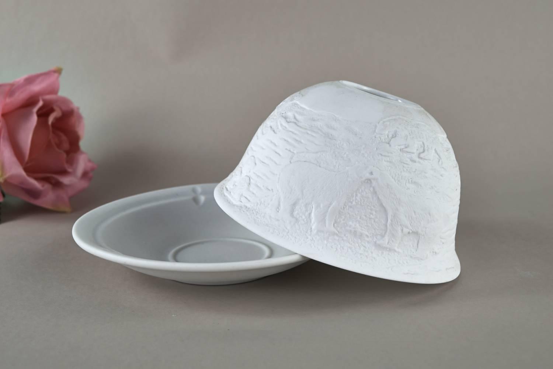 Kerzenfarm Hahn Dome Light Nr. 32017 Arktis - Teelicht Windlicht Dekoration Porzellanteelicht - 3