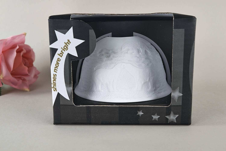 Kerzenfarm Hahn Dome Light Nr. 32017 Arktis - Teelicht Windlicht Dekoration Porzellanteelicht - 4