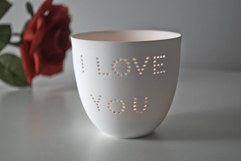 porzellan becher liebe teelichthalter windlicht lichterzauber tealight cups leuchtglas versand. Black Bedroom Furniture Sets. Home Design Ideas