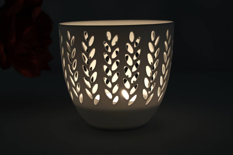 Porzellan-Becher Zweige, Teelichthalter Windlicht Lichterzauber Tealight Cups - 2