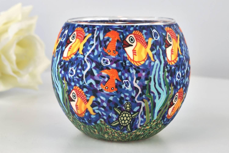 Leuchtglas 21001 aquarium 11cm dekoration teelicht for Aquarium versand