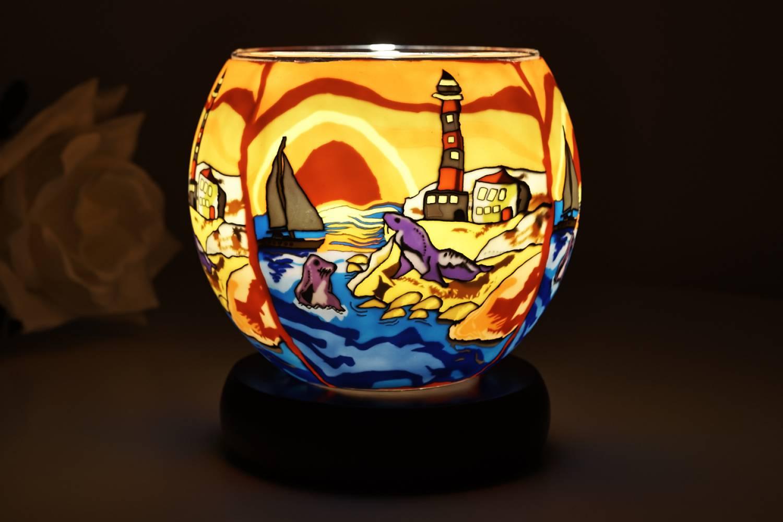 Kerzenfarm Leuchtglas Lampe 21002 Seaside, Ø11cm Dekoration Teelicht Windlicht Kerze - 2