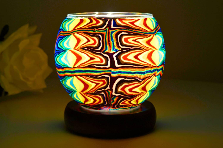 Kerzenfarm Leuchtglas als Lampe 21408 Fantasy, Ø11cm Dekoration Teelicht Windlicht Kerze - 2
